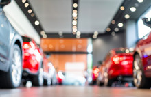 Blur View Of New Modern Car In...