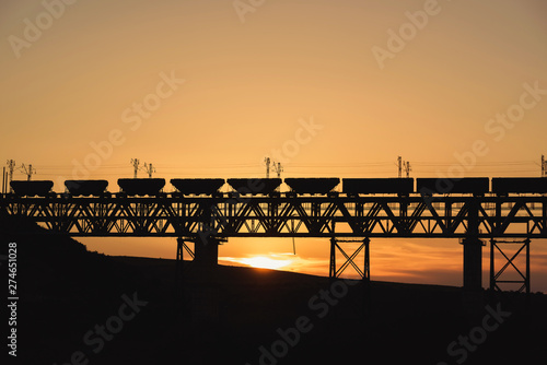 Railway bridge in Kazakhstan Canvas