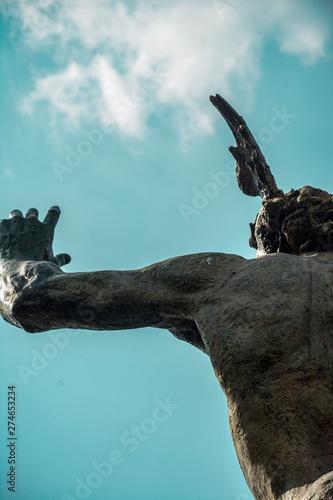 Foto op Plexiglas Volle maan Hermes statue