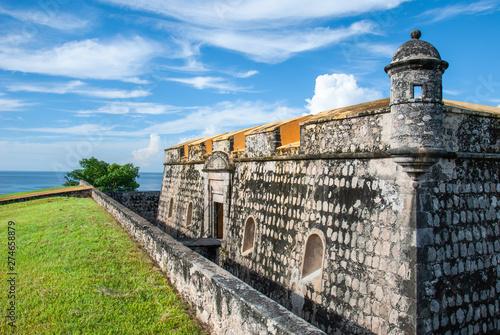 Fototapeta premium Bulwark of Fuerte de San Miguel w Campeche w Meksyku.