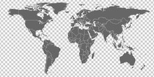 World Map Vector. Gray Similar...