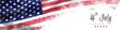 Leinwandbild Motiv happy Independence Day greeting card american flag grunge background