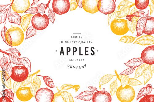 Obraz na płótnie Apple branches design template