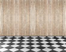 Empty Room With Wooden Floor A...