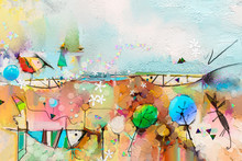Abstract Colorful Fantasy Oil,...