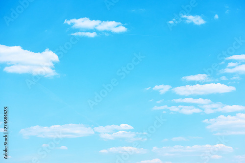 Canvas Prints Countryside Blue sky with light clouds