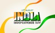 15 August. India independence day. With ribbon flag of india