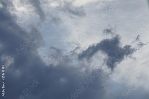 Türaufkleber Darknightsky Wetter mit Wolken