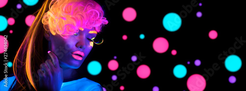 Obraz na płótnie Fashion disco woman