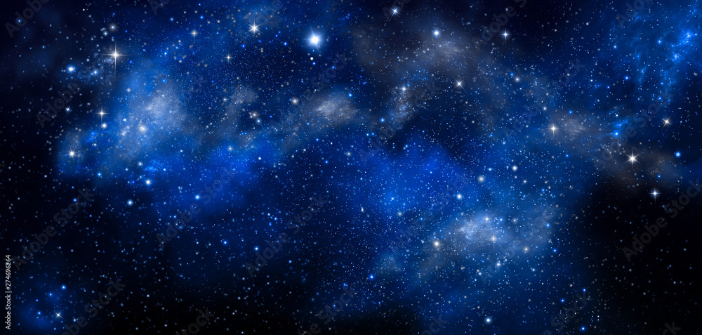 Fototapety, obrazy: deep space, abstract blue background