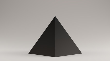 Black Pyramid 3d illustration 3d render