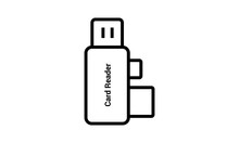 Usb Card Icon Outline Style Ve...