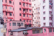 Pink Building In Hong Kong