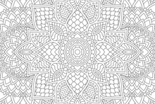 Abstract Linear Pattern For Coloring Book Page