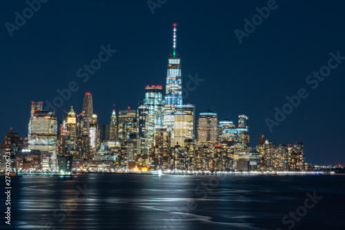 Scene of New york cityscape river side which location is lower manhattan which c фототапет