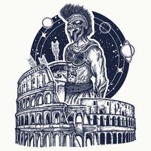 Spartan Gladiator Warrior And ...
