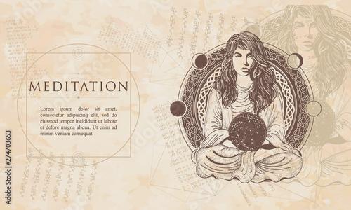 Meditation Fototapete