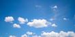 Leinwandbild Motiv landscape blue sky.  sky and the clouds. lovely sky