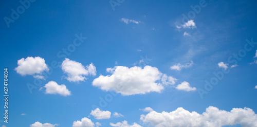 Foto auf Leinwand Blau Jeans landscape blue sky. sky and the clouds. lovely sky