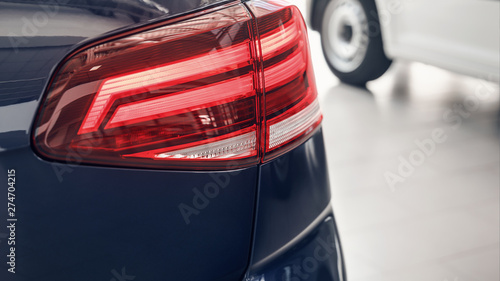 Photo  Detail on the rear light of a car