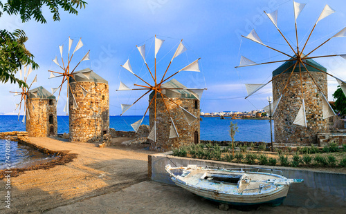 Traditional Greece series - windmills of Chios island.