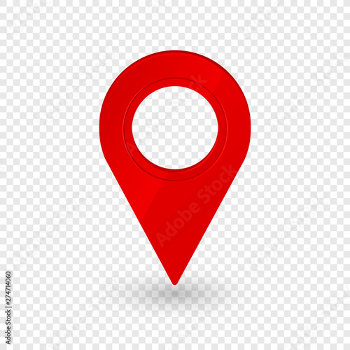 Map location pointer 3d arrow. Navigation icon for web, banner, logo or badge. Vector Illustration. Fototapete