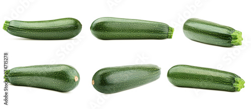 Poster de jardin Légumes frais zucchini isolated on white background, clipping path, full depth of field