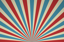 Retro Rays Of Light Circus Performance Poster And Past Performances.