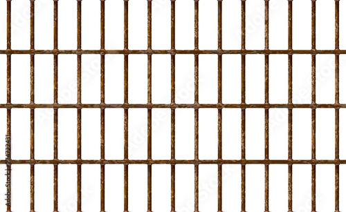 Valokuva Realistic Jail bars rusty, prison background iron interior