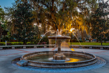 Fountain From Thomas Center In...