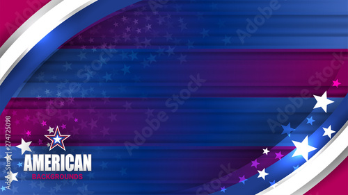 Fotografie, Obraz USA Color background concept for independence, veterans, labor, memorial day and