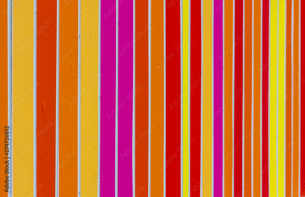Fototapety, obrazy: Fence rails, painted in different colors. Beautiful colorful background.