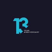 13 Years Anniversary Vector Te...