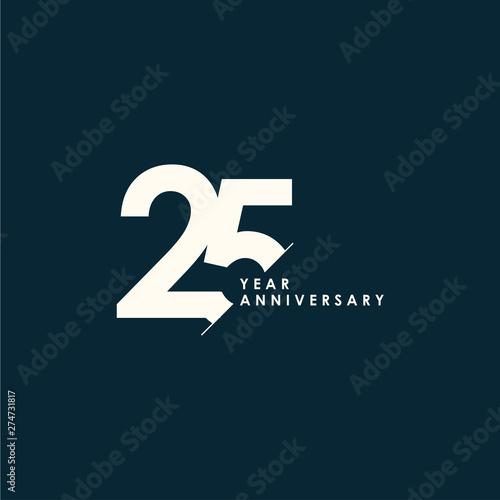 25 Years Anniversary Vector Template Design Illustration Fotomurales
