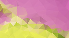 Vector Abstract Irregular Polygon Background - Triangle Low Poly Pattern - Cute Pink And Lime Green Color
