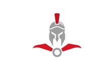 Creative Spartan Helmet Logo D...