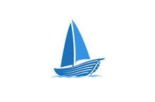 Creative Blue Yacht Boat Logo ...