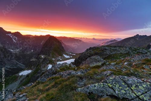 Beautiful scenery of the High Tatras mountains in Slovakia