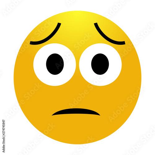 Photo fear face emoji. Surprised Emoticon. shocked emoji