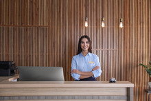 Portrait Of Receptionist At De...