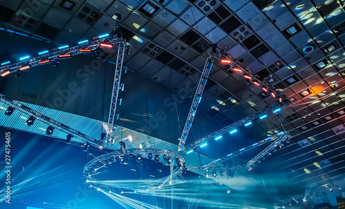 Free stage with lights, lighting devices - 274754615