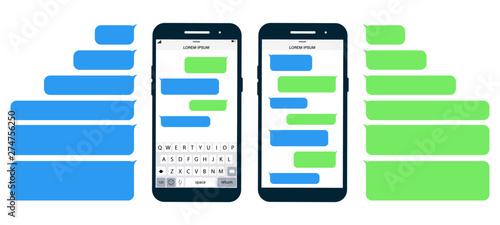 Fényképezés  Flat Messages Bubbles