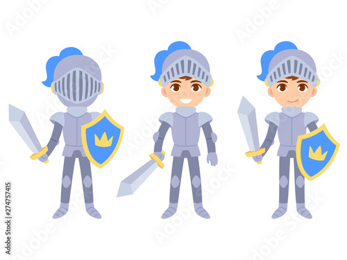 Cuadros en Lienzo Cute boy knight set