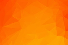 Orange Low Poly Crystal Background. Polygon Design Pattern. Environment Green Low Poly Vector Illustration, Low Polygon Background.