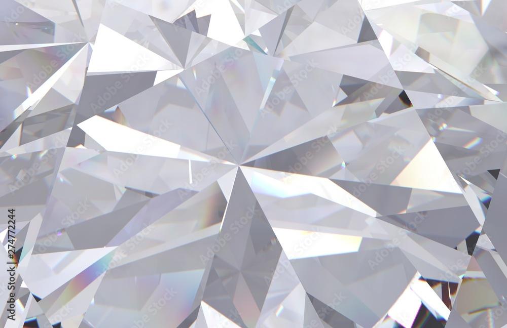 Fototapeta abstract geometric white diamond multi layered background. 3d render model
