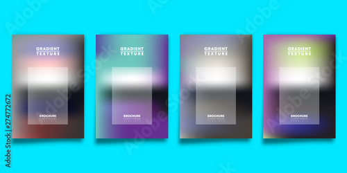 Photo  Set of gradient design cover template for flyer, poster, brochure, typography or