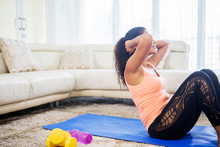 Young Woman Doing Abdominal Si...