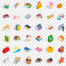 Dear Icons Set. Isometric Styl...