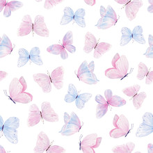 Cute Butterflies Hand Drawn Wa...