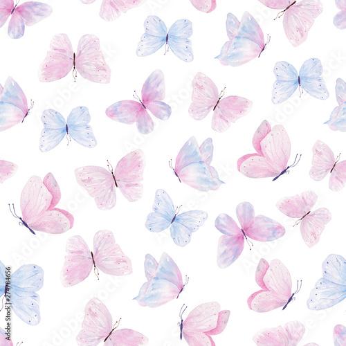 recznie-rysowane-akwarela-slodkie-motyle